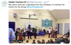 Key Strings Musical Education visited Childer Thornton Primary School